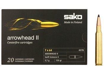 Amunicja 7x64 Sako Arrowhead II 9,7g/150gr (20 szt.)