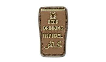 Naszywka Beer Drinking Infidel - brązowa