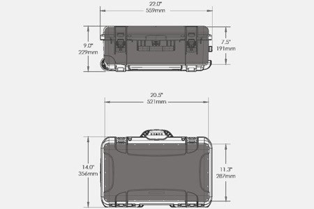 Skrzynia transportowa Nanuk 935 grafitowa - 6UP PISTOL