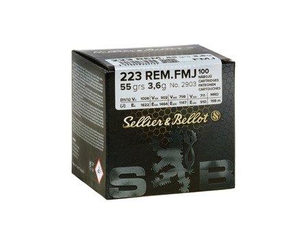 Amunicja .223 Rem S&B FMJ 3,6g/55gr (100 szt.)