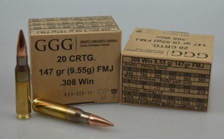 Amunicja .308 Win GGG FMJ 9.55g/147gr (20 szt.)