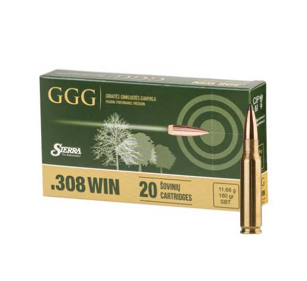 Amunicja .308 Win GGG Sierra SBT 11,66g/180gr (20 szt.)