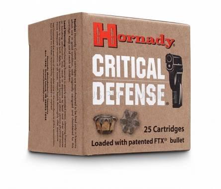 Amunicja .32 Auto Hornady FTX Critical Defence 3,89g/60gr (25 szt.)