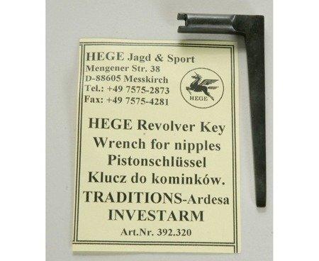 Klucz Hege do kominków ze śrubokrętem - L