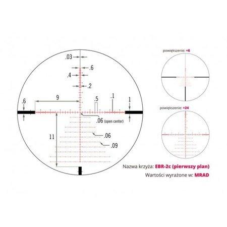 Luneta celownicza Vortex Viper PST 6-24x50 FFP 30 EBR-2C MRAD