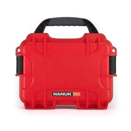 Skrzynia transportowa Nanuk 903 czerwona - bez wypełnienia
