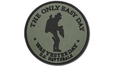 Naszywka 3D - The only easy day Navy Seals - Zielony OD FOSTEX
