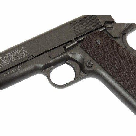 Pistolet CO2 Swiss Arms P1911 4,5 mm blow-back