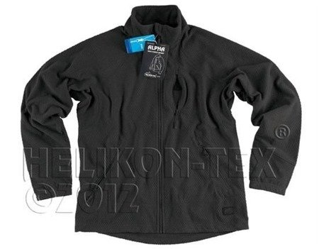 Polar Alpha Grid Fleece Jacket Black