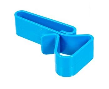 Polimerowy klips akcesoryjny do paska - niebieski