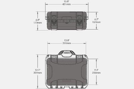 Skrzynia Transportowa NANUK 915 grafitowa - wkład modułowy FOTO