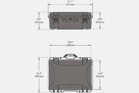 Skrzynia transportowa NANUK 940 DJI™ RONIN-M - pomarańczowa