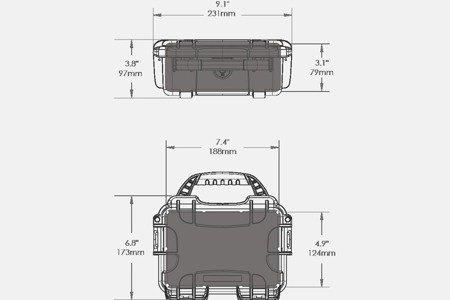 Skrzynia transportowa Nanuk 903 srebrna - bez wypełnienia