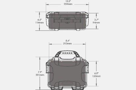 Skrzynia transportowa Nanuk 904 grafitowa - pianka modułowa wyrywana
