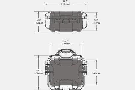 Skrzynia transportowa Nanuk 905 limonkowa - pianka modułowa wyrywana