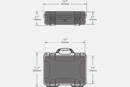 Skrzynia transportowa Nanuk 910 czarna - pianka modułowa wyrywana