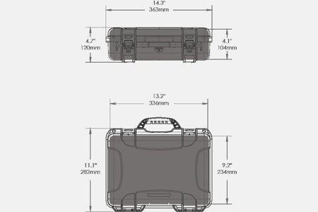 Skrzynia transportowa Nanuk 910 grafitowa - pianka modułowa wyrywana