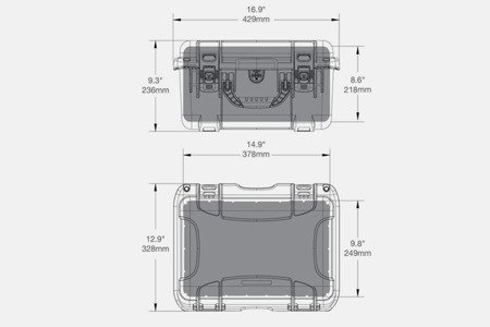Skrzynia transportowa Nanuk 918 grafitowa - pianka modułowa wyrywana