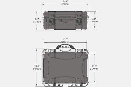 Skrzynia transportowa Nanuk 920 grafitowa - wkład modułowy FOTO
