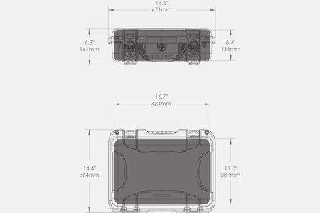 Skrzynia transportowa Nanuk 923 DJI™ Ronin-S oliwkowa