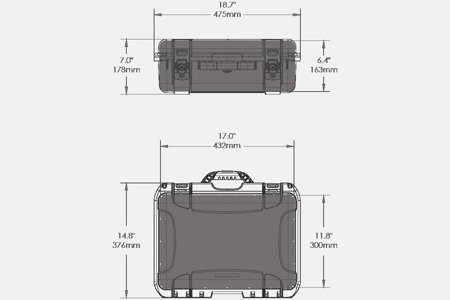 Skrzynia transportowa Nanuk 925 DJI™ Mavic 2 + Smart Controller grafitowa