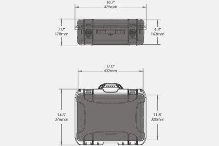 Skrzynia transportowa Nanuk 925 grafitowa - bez wypełnienia