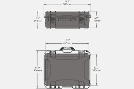 Skrzynia transportowa Nanuk 930 oliwkowa - pianka modułowa wyrywana