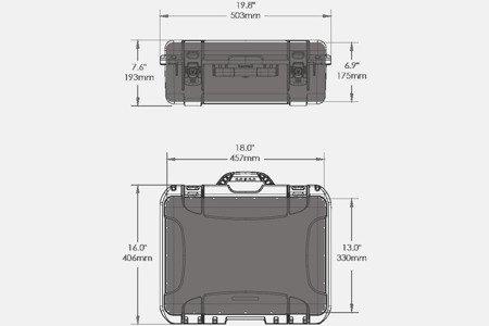 Skrzynia transportowa Nanuk 930 żółta - wkład modułowy FOTO