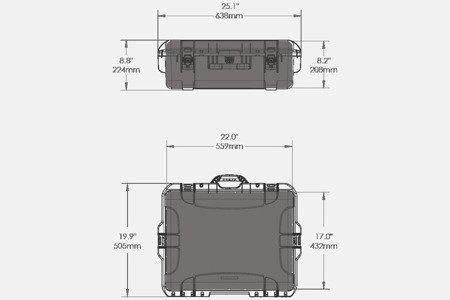 Skrzynia transportowa Nanuk 945 żółta - pianka modułowa wyrywana