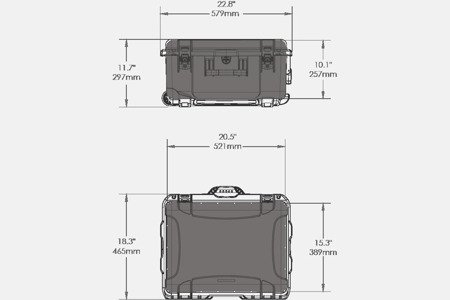 Skrzynia transportowa Nanuk 950 DJI™ RONIN-M pomarańczowa