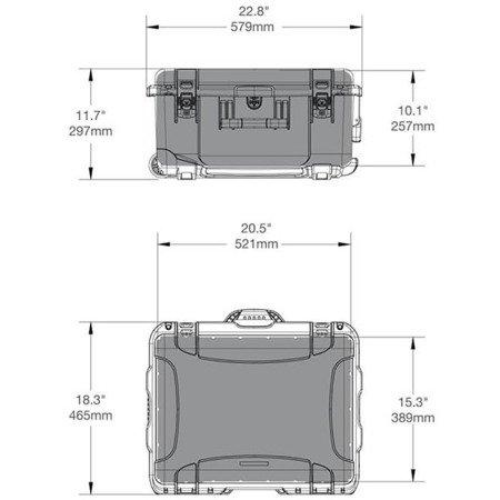 Skrzynia transportowa Nanuk 950 pomarańczowa - pianka modułowa wyrywana