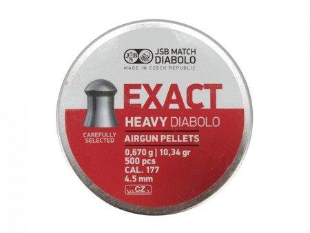 Śrut 4,5 Exact JSB Heavy Diabolo (500 szt.)