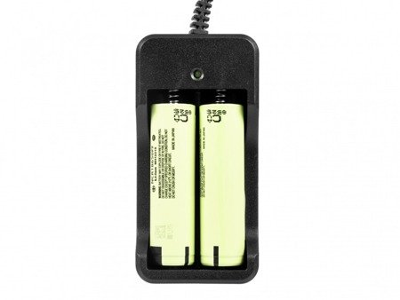 Zestaw ładowarka + 2 x akumulator 18650 Pard NV-007